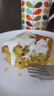 Cake is delicious with natural yoghurt and a cup of tea or coffee!